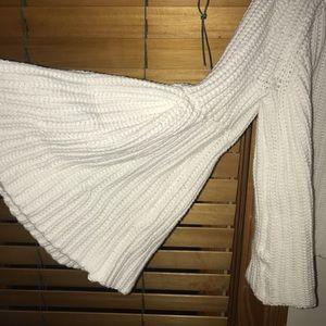 Vestique bell-sleeve sweater